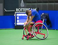 Rotterdam,Netherlands, December 15, 2015,  Topsport Centrum, Lotto NK Tennis, Jelle Oosterwijk (NED)<br /> Photo: Tennisimages/Henk Koster