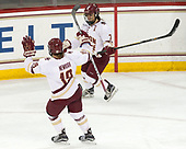 Makenna Newkirk (BC - 19), Kristyn Capizzano (BC - 7) - The Boston College Eagles defeated the visiting Boston University Terriers 5-3 (EN) on Friday, November 4, 2016, at Kelley Rink in Conte Forum in Chestnut Hill, Massachusetts.The Boston College Eagles defeated the visiting Boston University Terriers 5-3 (EN) on Friday, November 4, 2016, at Kelley Rink in Conte Forum in Chestnut Hill, Massachusetts.