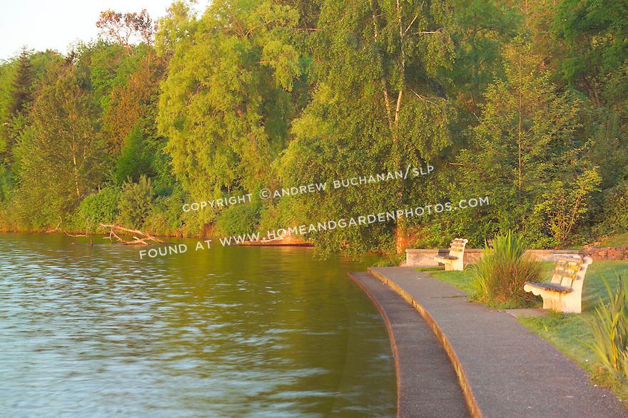 early morning shots of Olmstead-designed Colman Park along Lake Washington, Seattle, WA
