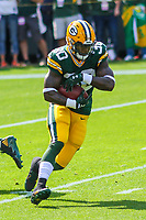 Green Bay Packers running back Jamaal Williams (30) during a National Football League game against the Seattle Seahawks on September 10, 2017 at Lambeau Field in Green Bay, Wisconsin. Green Bay defeated Seattle 17-9. (Brad Krause/Krause Sports Photography)