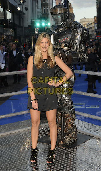 "FRANCESCA 'CHESKA' HULL.""Real Steel"" - UK film premiere held at the Empire Leicester Square - Arrivals..London, England..September 14th, 2011.full length sleeveless dress hand on hip black shoes open toe.CAP/CAN.©Can Nguyen/Capital Pictures."