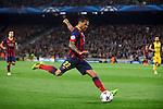 UEFA Champions League 2013/2014.<br /> Quarter-finals 1st leg.<br /> FC Barcelona vs Club Atletico de Madrid: 1-1.<br /> Dani Alves.