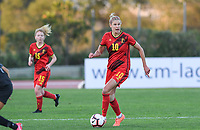 20200304  Parchal , Portugal : Belgian Justine Vanhaevermaet (10) pictured during the female football game between the national teams of New Zealand , known as the Football Ferns and Belgium called the Red Flames on the first matchday of the Algarve Cup 2020 , a prestigious friendly womensoccer tournament in Portugal , on wednesday 4 th March 2020 in Parchal , Portugal . PHOTO SPORTPIX.BE   DAVID CATRY