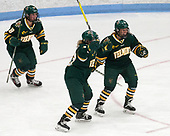 Cassidy Campeau (UVM - 18), Alyssa Gorecki (UVM - 23), Bridget Baker (UVM - 16) -  The Boston College Eagles defeated the University of Vermont Catamounts 4-3 in double overtime in their Hockey East semi-final on Saturday, March 4, 2017, at Walter Brown Arena in Boston, Massachusetts.