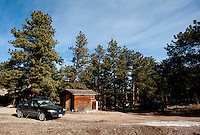 A home in Pinewood Springs directly across the property border between Pinewoods Springs and the Arapahoe-Roosevelt National Forest in Pinewood Springs, Colorado, Wednesday, February 1, 2012. National Forests in Colorado could, under rule making now going on in the Obama administration, have much reduced protections from development than the rest of the nation under the so-called roadless rules, proposed in the Clinton administration, and recently vindicated by a federal appeals panel..Photo by Matt Nager