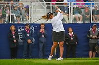 Lizette Salas (USA) watches her tee shot on 1 during round 4 of the KPMG Women's PGA Championship, Hazeltine National, Chaska, Minnesota, USA. 6/23/2019.<br /> Picture: Golffile | Ken Murray<br /> <br /> <br /> All photo usage must carry mandatory copyright credit (© Golffile | Ken Murray)