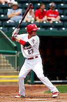 Ryan Jackson (23) of the Springfield Cardinals at bat during a game against the Arkansas Travelers on May 10, 2011 at Hammons Field in Springfield, Missouri.  Photo By David Welker/Four Seam Images.