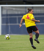 Lilli Maple of Watford Ladies during the pre season friendly match between Stevenage Ladies FC and Watford Ladies at The County Ground, Letchworth Garden City, England on 16 July 2017. Photo by Andy Rowland / PRiME Media Images.