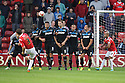 Andy Taylor of Walsall fires a free-kick over the bar<br />  - Walsall v Stevenage - Sky Bet League One - Banks's Stadium, Walsall - 19th October 2013. <br /> © Kevin Coleman 2013