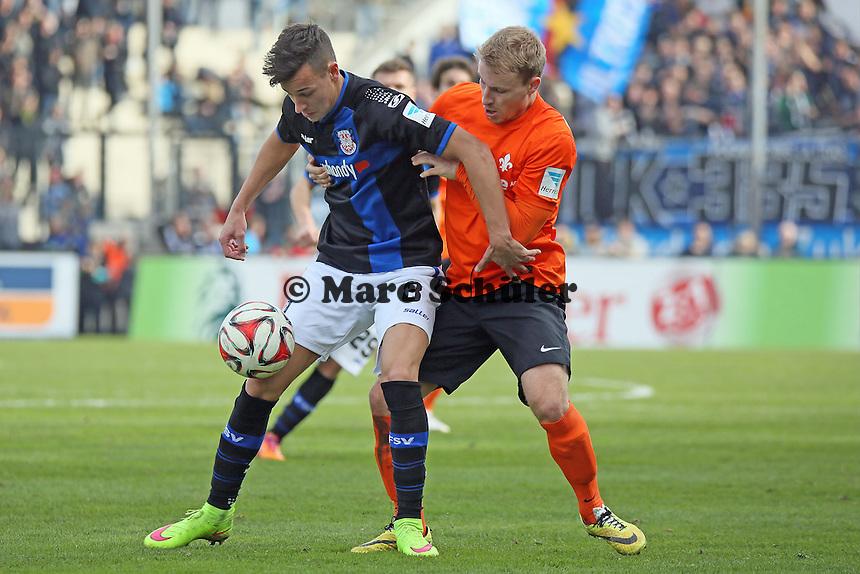 Mario Engels (FSV) gegen Fabian Holland (SV98) - FSV Frankfurt vs. SV Darmstadt 98, Frankfurter Volksbank Stadion