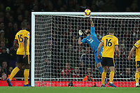 Rui Patricio of Wolves saves from Granit Xhaka of Arsenal during Arsenal vs Wolverhampton Wanderers, Premier League Football at the Emirates Stadium on 11th November 2018