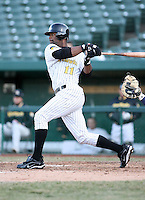 April 4, 2008:  South Bend Silver Hawks outfielder Derrick Walker (11) at bat against the West Michigan Whitecaps at Coveleski Stadium in South Bend, IN.  Photo by: Chris Proctor/Four Seam Images