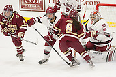 Grace Bizal (BC - 2), Briana Mastel (Harvard - 17), Dana Trivigno (BC - 8), Emerance Maschmeyer (Harvard - 38) - The visiting Boston College Eagles defeated the Harvard University Crimson 2-0 on Tuesday, January 19, 2016, at Bright-Landry Hockey Center in Boston, Massachusetts.