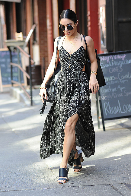 WWW.ACEPIXS.COM<br /> June 9, 2015 New York City<br />  <br /> Vanessa Hudgens seen walking in the West Village of New York City on June 9, 2015.<br /> <br /> By Line: Kristin Callahan/ACE Pictures<br /> <br /> Tel: 646 769 0430<br /> Email: info@acepixs.com<br /> www.acepixs.com