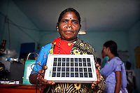 Grandmother Pulka Wadeka is one of four women from the village of Tinginapu who has been trained in solar powered engineering by The Orissa Tribal Empowerment and Livelihoods Programme (OTELP), an organisation funded by DFID (Department for International Development) and run with the state government of Orissa. The Orissa Tribal Women's Barefoot Solar Engineers Association has now got a contract to build 3,000 solar-powered lanterns for schools and other institutions and is training other people in the community.