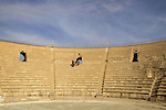 Israel, Sharon region, the Roman Theater in Caesarea, built in Herod's time