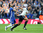 Chelsea's Cesc Fabregas tussles with Tottenham's Mousa Dembele during the FA Cup Semi Final match at Wembley Stadium, London. Picture date: April 22nd, 2017. Pic credit should read: David Klein/Sportimage