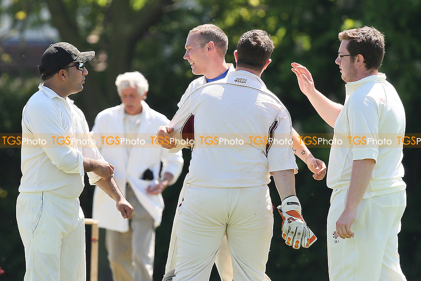 Foxton of Hornchurch celebrates the wicket of S Hewitt - Gidea Park & Romford CC 4th XI vs Hornchurch CC 4th XI - Essex Cricket League - 22/05/10 - MANDATORY CREDIT: Gavin Ellis/TGSPHOTO - Self billing applies where appropriate - Tel: 0845 094 6026