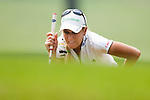 CHON BURI, THAILAND - FEBRUARY 17:  Natalie Gulbis of USA lines up a putt on the 15th green during day two of the LPGA Thailand at Siam Country Club on February 17, 2012 in Chon Buri, Thailand.  Photo by Victor Fraile / The Power of Sport Images