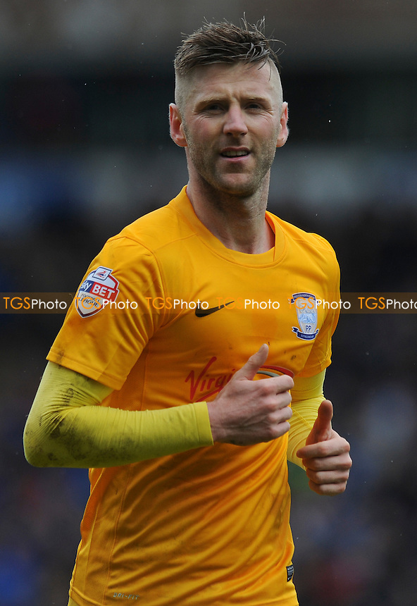 Paul Gallagher of Preston North End during Blackburn Rovers vs Preston North End, Sky Bet Championship Football at Ewood Park on 2nd April 2016