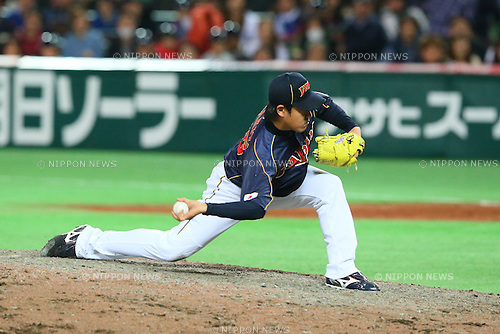 Kazuhisa Makita (JPN), .MARCH 2, 2013 - WBC : .2013 World Baseball Classic .1st Round Pool A .between Japan 5-3 Brazil .at Yafuoku Dome, Fukuoka, Japan. .(Photo by YUTAKA/AFLO SPORT)