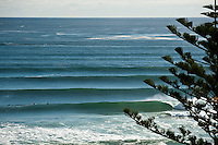 Kirra Point line up, Coolangatta, Queensland Australia.  Photo: joliphotos.com