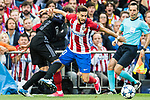 Yannick Ferreira Carrasco (r) of Atletico de Madrid competes for the ball with Sergio Ramos of Real Madrid during their 2016-17 UEFA Champions League Semifinals 2nd leg match between Atletico de Madrid and Real Madrid at the Estadio Vicente Calderon on 10 May 2017 in Madrid, Spain. Photo by Diego Gonzalez Souto / Power Sport Images