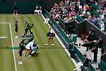 Mcc0032212 . SundayTelegraph..Maria Sharapova arrives on court.......Shot with shift lens..Maria Sharapova vs Klara Zakopalova on court 2.The sixth day of The Lawn Tennis Championships at Wimbledon..24 June 2011 Wimbledon