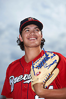 Brevard County Manatees pitcher Cody Ponce (37) poses for a photo before a game against the Lakeland Flying Tigers on April 20, 2016 at Henley Field in Lakeland, Florida.  Lakeland defeated Brevard County 5-2.  (Mike Janes/Four Seam Images)