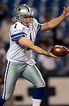 8 October 2007:  Dallas Cowboys punter Mat McBriar practices kicking prior to a game against the Buffalo Bills at Ralph Wilson Stadium in Buffalo, New York. The Cowboys defeated the Bills 25-24 for their fifth consecutive win of the season...Mandatory Photo Credit: Ed Wolfstein Photo