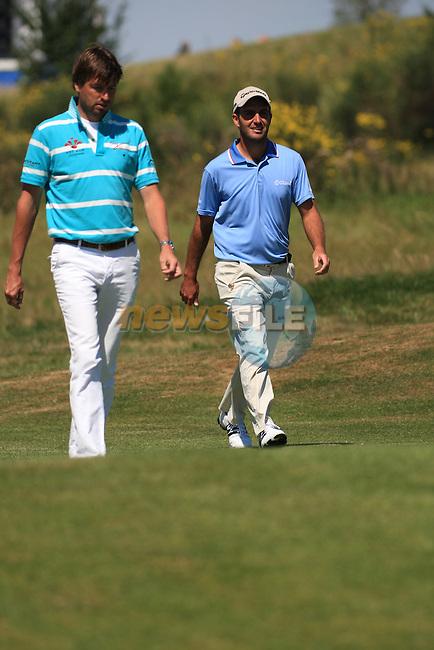 Robert-Jan Derksen (NED) and Edoardo Molinari (ITA).during the final day of the Alstom Open de France, Golf National Saint-Quentin-en-Yvelines, Paris. 3/7/11.Picture Fran Caffrey/www.golffile.ie