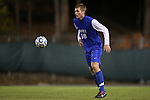 06 November 2012: Duke's Nat Eggleston. The University of North Carolina Tar Heels defeated the Duke University Blue Devils 1-0 at Fetzer Field in Chapel Hill, North Carolina in a 2012 NCAA Division I Men's Soccer game. The game was an Atlantic Coast Conference quarterfinal match.