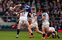Bath Rugby's Joe Cokanasiga in action during todays match<br /> <br /> Photographer Bob Bradford/CameraSport<br /> <br /> Gallagher Premiership - Bath Rugby v Bristol Bears - Saturday 6th April 2019 - The Recreation Ground - Bath<br /> <br /> World Copyright © 2019 CameraSport. All rights reserved. 43 Linden Ave. Countesthorpe. Leicester. England. LE8 5PG - Tel: +44 (0) 116 277 4147 - admin@camerasport.com - www.camerasport.com