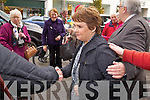 Presidential candidate Dana Rosemary Scallon meeting her followers on Friday in Tralee.