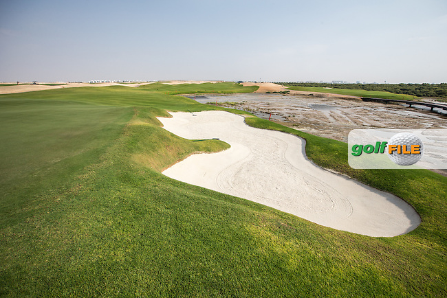 View of the 12th green at Al Zorah Golf Club, Dubai, United Arab Emirates.  26/01/2016. Picture: Golffile | David Lloyd<br /> <br /> All photos usage must carry mandatory copyright credit (&copy; Golffile | David Lloyd)