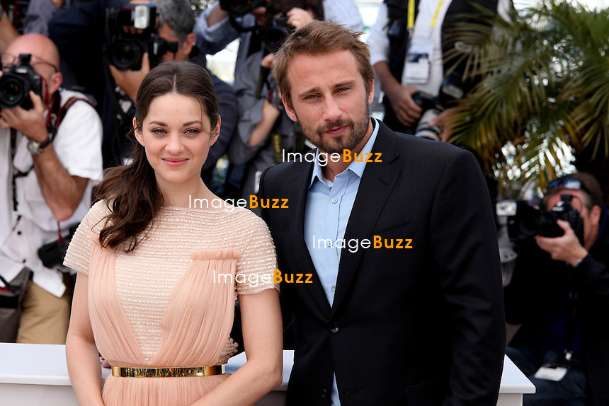 "France - Cannes, May 17th, 2012 -  Marion Cotillard & Matthias Schoenaerts attend the "" De Rouille et d'Os "" Photocall at the Palais des Festival at the 65th Annual Cannes Film Festival."