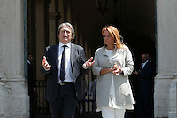 Antonio Campo Dall'Orto e Monica Maggioni<br /> Roma 22-06-2016 Quirinale. Incontro del presidente con gli atleti che parteciperanno alle olimpiadi e alle paralimpiadi di Rio 2016, e consegna della bandiera alle rispettive portabandiera, che quest'anno sono due donne.<br /> Rome 22nd June 2016. Quirinal. The President meets the italian athletes of the Rio 2016 Olympic Games and delivers the flag to the respective standard-bearers<br /> Photo Samantha Zucchi Insidefoto