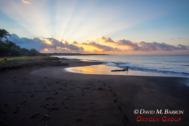 Sunrise At Waimea Plantation Cottages Beach