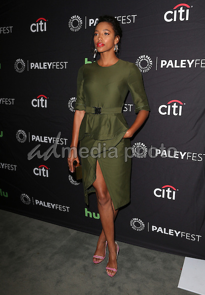 08 September 2016 -  Beverly Hills, California - Kylie Bunbury. The Paley Center For Media's PaleyFest 2016 Fall TV Preview: PITCH - FOX held at The Paley Center for Media. Photo Credit: Faye Sadou/AdMedia