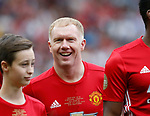 Paul Scholes back in the red shirt during the Michael Carrick Testimonial match at the Old Trafford Stadium, Manchester. Picture date: June 4th 2017. Picture credit should read: Simon Bellis/Sportimage