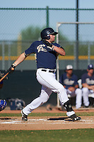 San Diego Padres Austin Allen (32) during an instructional league game against the Texas Rangers on October 9, 2015 at the Surprise Stadium Training Complex in Surprise, Arizona.  (Mike Janes/Four Seam Images)