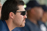 21 May 2009: Tim Stewart of Savigny is seen in the dugout during the 2009 challenge de France, a tournament with the best French baseball teams - all eight elite league clubs - to determine a spot in the European Cup next year, at Montpellier, France.