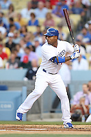 05/13/13 Los Angeles, CA: Los Angeles Dodgers left fielder Carl Crawford #25 in a MLB game played between the Los Angeles Dodgers and the Washington Nationals at Dodger Stadium. The Nationals defeated the Dodgers 6-2