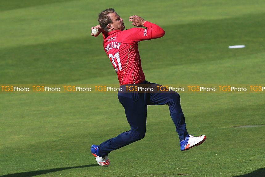 Neil Wagner in bowling action for Essex during Somerset vs Essex Eagles, Royal London One-Day Cup Cricket at The Cooper Associates County Ground on 14th May 2017