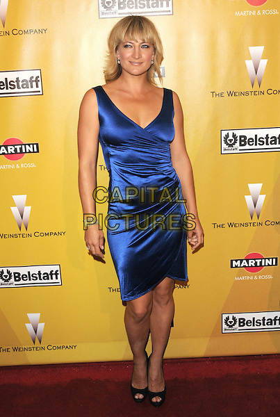 ZOE BELL.At Weinstein Company Post Golden Globe Party held at Bar210 & Plush Ultra Lounge in Beverly Hills, California, USA. January 17th, 2010                                                                   globes full length blue sleeveless silk satin dress  .CAP/DVS.©Debbie VanStory/Capital Pictures
