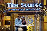 Co-hosts Busta Rhymes and Vivica Fox on stage at The Source Hip-Hop Music Awards 2001 at the Jackie Gleason Theater in Miami Beach, Florida.  8/20/01  Photo by Scott Gries/ImageDirect