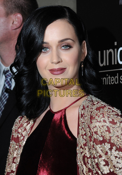 New York, NY-December 3: Katy Perry attends the Ninth Annual UNICEF Snowflake Ball on December 3, 2013 at Cipriani Wall Street in New York City. <br /> CAP/MPI/RTNSTE<br /> &copy;RTNStevens/MediaPunch/Capital Pictures