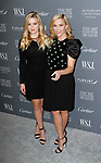 Reese Witherspoon (right) and daughter Ava Phillippe arrive at the WSJ. Magazine 2017 Innovator Awards at The Museum of Modern Art in New York City, on November 1, 2017.