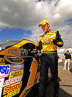 Sept. 19, 2008; Dover, DE, USA; Nascar Sprint Cup Series driver Matt Kenseth during qualifying for the Camping World RV 400 at Dover International Speedway. Mandatory Credit: Mark J. Rebilas-