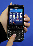 In this Dec. 12, 2010 photo, a Research In Motion Blackberry is dispalyed at Best Buy in Mountain View, Calif. Research In Motion Ltd., releases quarterly financial results Thursday, Dec. 16, after the market close.(AP Photo/Paul Sakuma)